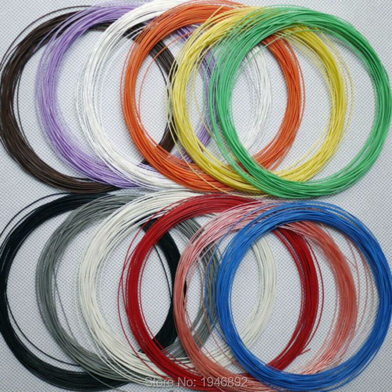 High quality 30 AWG Silver plated cable Teflon OD 0.7mm headphone ...