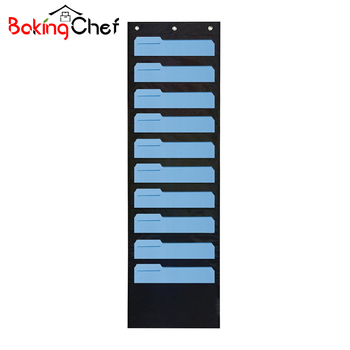 BAKINGCHEF Home Hanging Storage Bag Office Door Wall Magazine Book Card Holder Case Sundries Organizer Wholesale Accessories