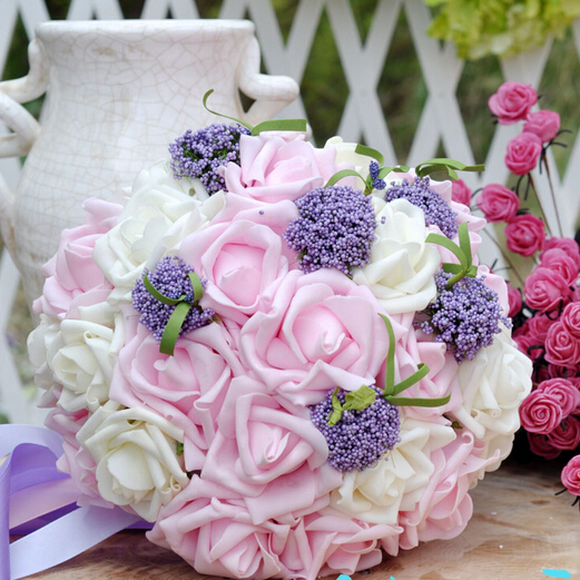 2017 Bride Flower Bruidsboeket Wedding Bouquets Colorful Bridesmaids Bouquet High Simulation Flowers Mariage