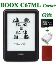 """Orijinal ONIKS ÇANTASI C67ML carta + ebook okuyucu 6 """"8G wifi eink dokunmatik ekran 3000 mAh cep kitapları hediye pu kapak & 8Gtf kart e kitap"""