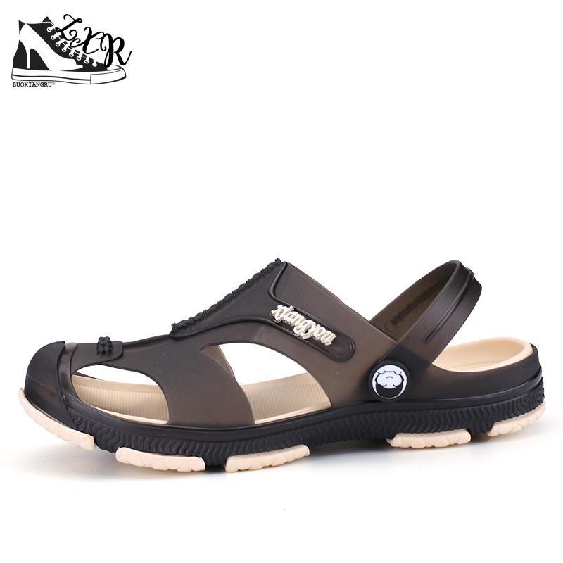 c4877513f9daff Kaufen Billig Männer Mode Sandalen Sommer männer Hausschuhe Leder Schuhe  Strand Casual Atmungsaktiv Haus Hausschuhe Männer Schuhe Flip Flops Preise  Online