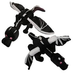 60cm  My world minecraft ender dragon plush soft black Minecraft enderdragon PP cotton minecraft dragon Toys