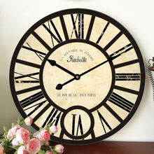 Vintage home decor large wall clock roman numerals frozen living room decoration wall clock gift orologi