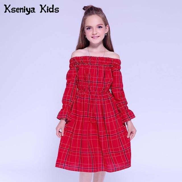 Kseniya Kids Red Girls Dress Long Sleeve Winter Dress Kids Wedding Dresses Baby Girl Clothes Party Dresses For Girls 10 11