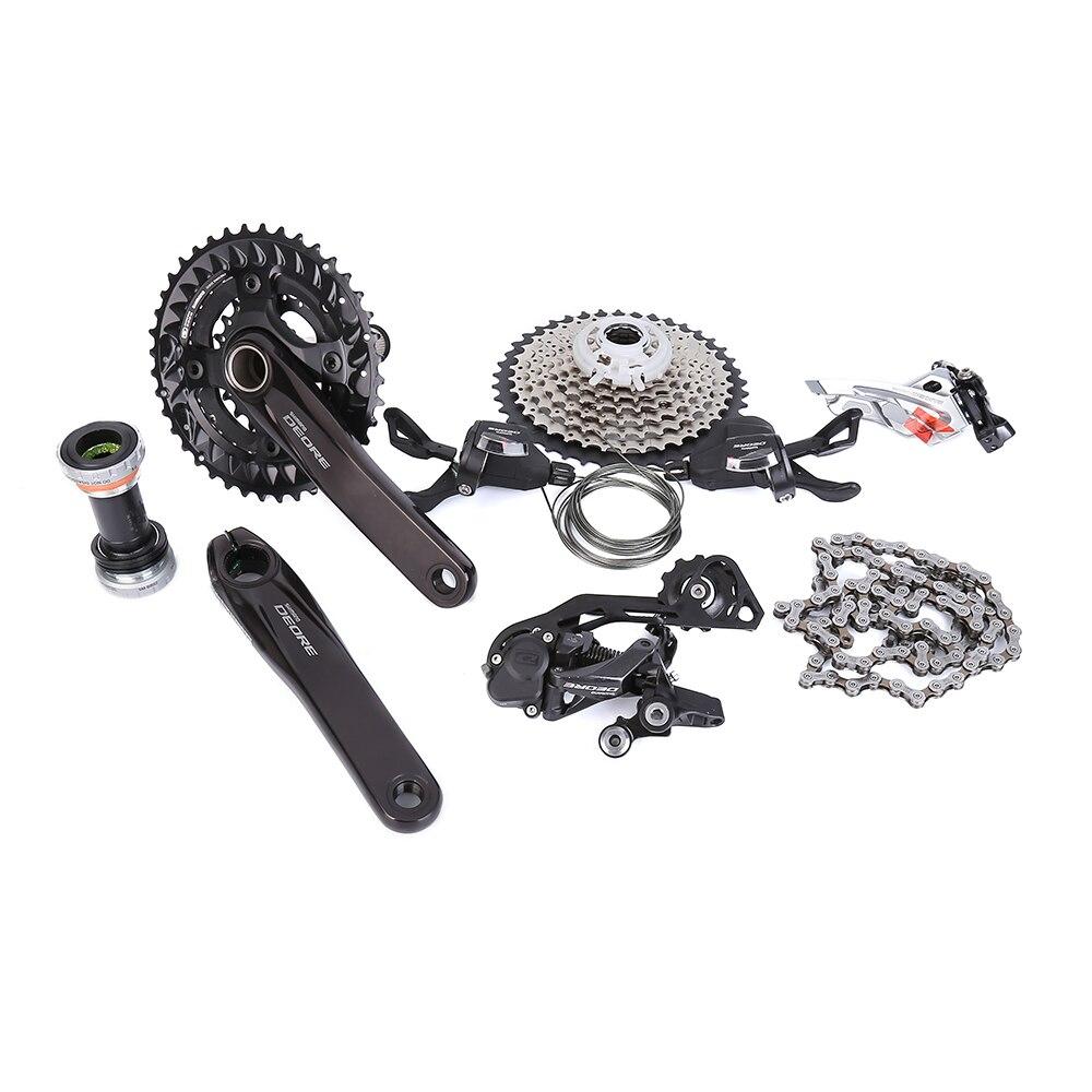 SHIMANO Deore M6000 2x10 170mm 38-28 T 3x10 Velocità 30 Velocità 170mm 40-30-22T della bici MTB della bicicletta Gruppo A 7 Pz Aggiornamento da M610