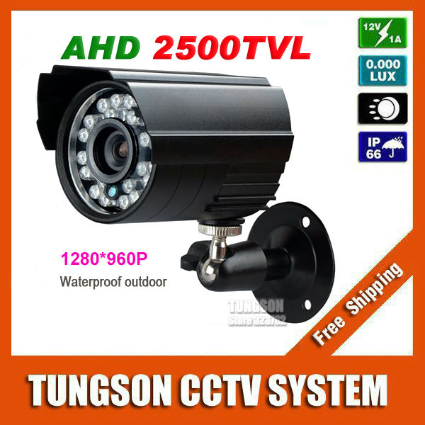 New Product 1280*960P HD CCTV Camera 2500TVL Security Monitoring Outdoor Waterproof Mini Bullet 1.40 MP AHD Video Surveillance 2015 newest cheapest freeshipping 6 array leds cctv camera cmos 700tvl plastic bullet hd mini monitoring security camera