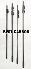 Best Buy Free shiping High quality 3K Carbon Fiber Telescopic Tubes, cleaning pole, carbon fiber tube, CFK Rohre