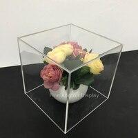 Acrylic Jewelry Displays Acrylic Box Case 5 Sided Display Box Plexiglass Cube 6x6x 6