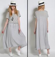 Summer style original design European cotton hollow large size women loose short sleeved dress 2018 new summer dress XL 5XL