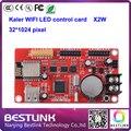 КАЛЕР wi-fi платы управления XU2W x2w USB порт 32*512 пикселей одной двухцветный светодиод контроллер для p10 программируемый светодиодный знак открыть
