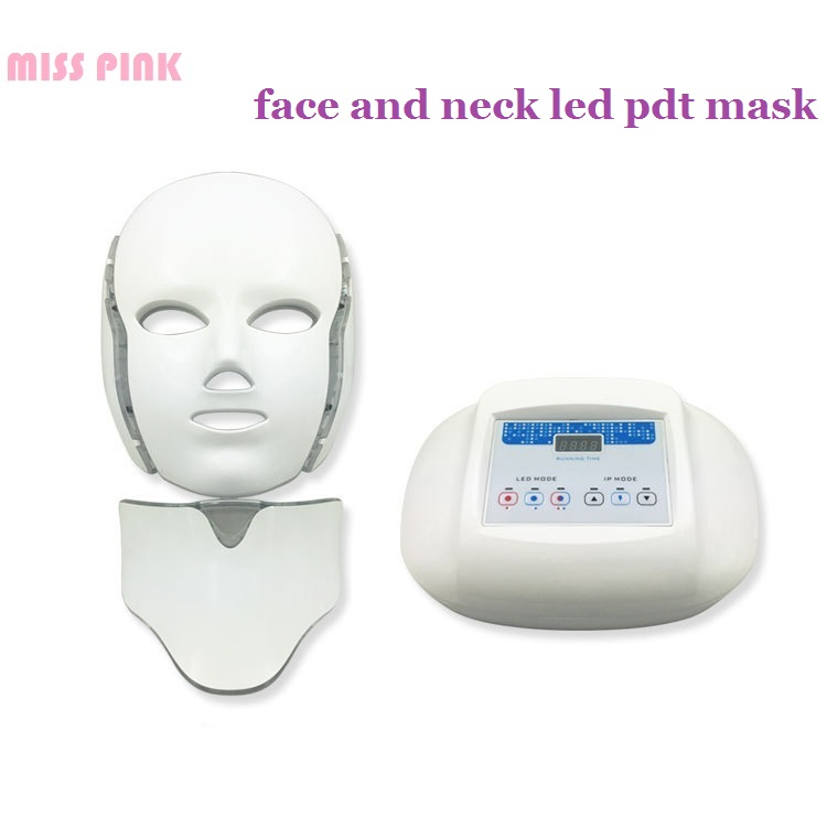 MISS PINK Newest Face Neck PDT LED Mask For Facial Care Dynamic Treatment With Red Blue Purple Light