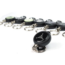1Pc EDC Retractable Wire Rope Anti-lost Anti-theft keychain ABS Outdoor Camping Equipment Tourism Portable Mini Tools