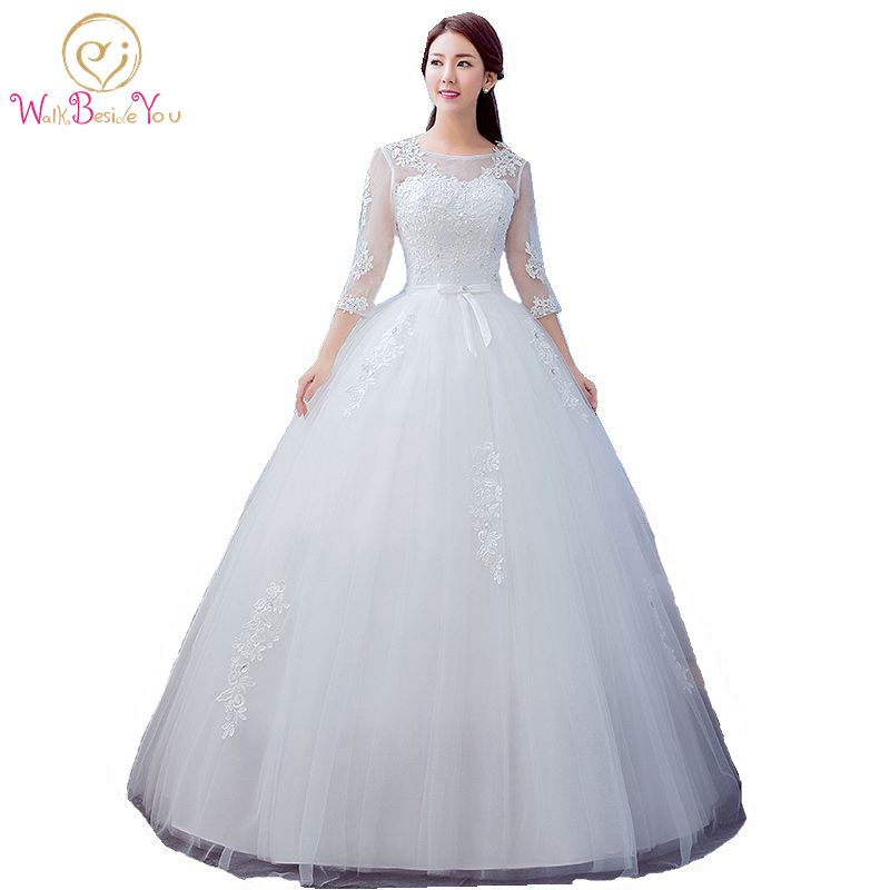 2017 Best Selling Ball Gown Lace Tulle Red Ivory Three Quarter Wedding Dress Chinese Style Cheap