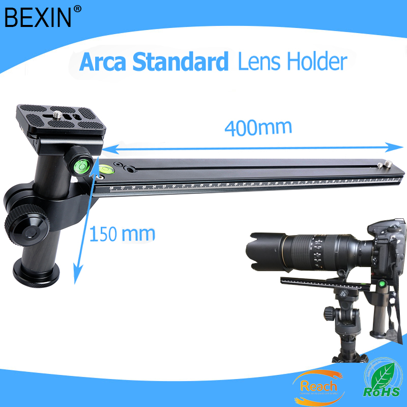 Telephoto Zoom Lens Bracket Long-Focus Lens Support Holder + Camera Quick Release Plate for Ball Head Tripod Mount Ring
