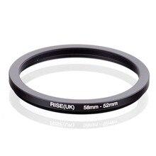RISE (UK) 58mm 52mm 58 52mm 58 do 52 krok w dół pierścień filtr Adapter czarny