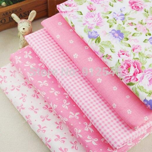 15317381, 50 cm * 50 cm 5 color de la mezcla de flores de tela de algodón serie,