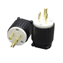 5PCS 125A 15A UL Industrial Plug Socket AC Connector Adapter US Standard Male Power Converter
