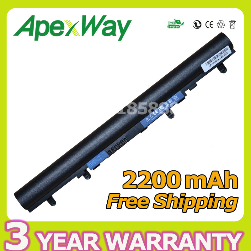 Apexway 4 cells battery for Acer AL12A32 for Aspire V5 V5-171 V5-431 V5-431G V5-531 V5-471 V5-571 V5-571G V5-571P V5-571PG diatone v5 0 power hub