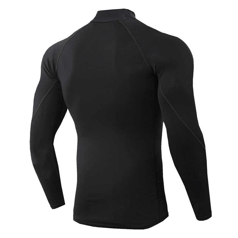 Roupa interior térmica para homens de alta gola camisa térmica esporte termica secagem rápida roupa interior comprimida bielizna