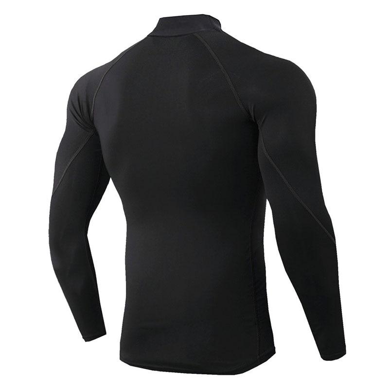 Thermo shirt high collar men 39 s underwear sport termal tshirt long sleeve men quick dry compressed underwear clothes men bielizna