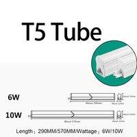 10 팩 LED T5 튜브 형광 통합 T8 전구 30 센치메터 60 센치메터 1피트 2FTs 벽 램프 차가운 흰색 110 볼트 220 볼트 240 볼트 6