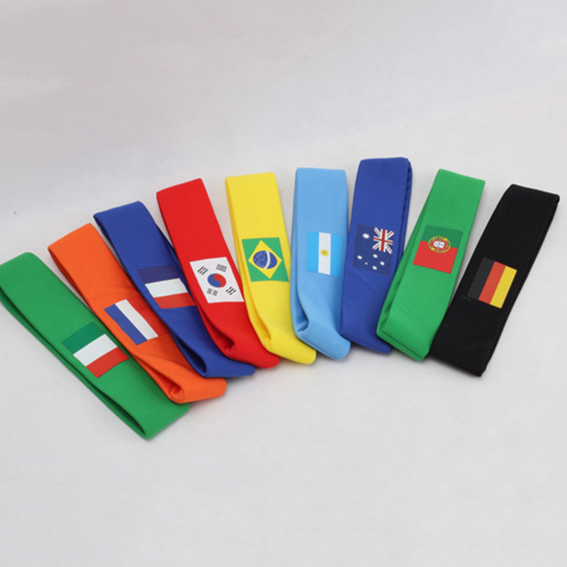 20pcs Russia Soccer Football Fan Headband Colorful Scarf Brazil National Team Country Fag Banner Souvenir Kids Gift Action Toys