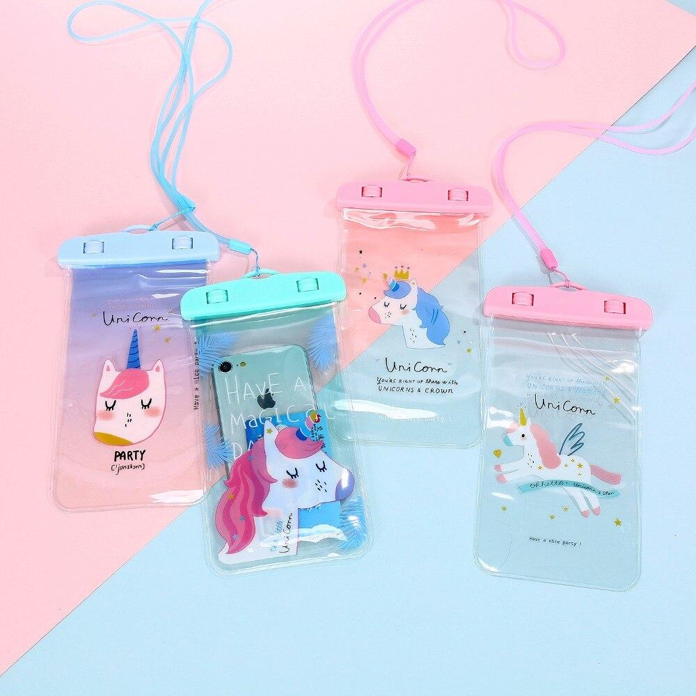 Корейский Фламинго Единорог Водонепроницаемый сумка сотовый телефон чехол для iPhone Samsung мини портмоне визитница хранения кошелек сумка