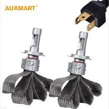 Auxmart 72w/pair Hi-low Beam H4 9003 HB2 Cree CSP Chip LED Headlight Bulb Conversion Kit 8000lm LED Head Lamp Bulb 6500k 12V 24V