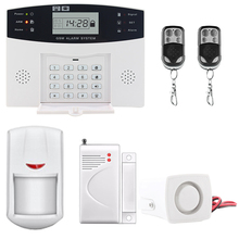 LCD Display Wireless GSM &Home Security Alarm System SMS and Smoke Sensor  Russian/English/Spanish/French voice smartyiba hot wifi gsm home security alarm system remote control english russian spanish german french polish door sensor