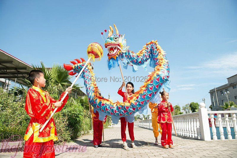 f7f42368d children size CHINESE DRAGON DANCE 5.5M Folk Festival Celebration Costume 6  children to play-in Other Sports & Entertainment from Sports &  Entertainment on ...