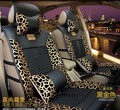 5 pcs / set car seat covers cushion  2016 new supply four season flax material car seat cover Simple comfort leopard design