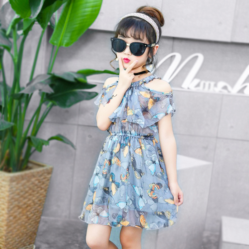 Fashion Girl Dress Children Sleeveless Mesh Lace Party Dresses girls Strapless floral dresses 3-12 years old children clothing floral lace mesh night dress