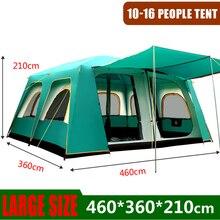 야외 큰 텐트 460*360*210 Cm 대형 파티 캠핑 텐트 캠프 가족 캐빈 텐트 5 8 10 남자 12 14 16 사람 키 큰 쉼터