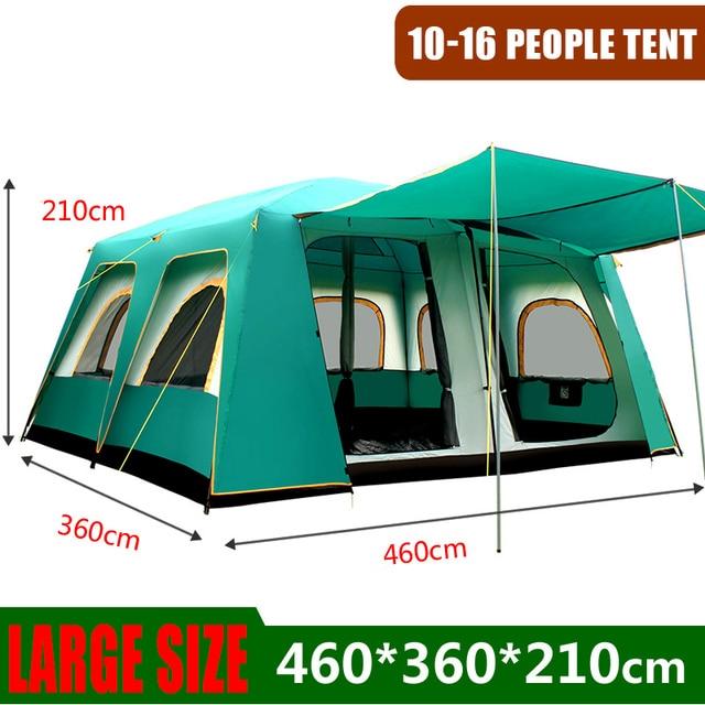 屋外の大型テント460*360*210センチメートル大パーティーキャンプtentedためキャンプ家族キャビンテント5 8 10男性12 14 16人背避難所