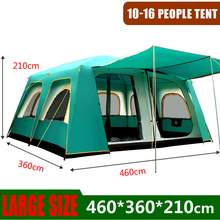Outdoor Big Tents 460*360*210 Cm Large Party Camping Tented Camps Family Cabin Tent For 5 8 10 Men 12 14 16 Person Tall Shelter