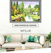 Handmade Landscape Oil Painting For Living Room Wall Decorative Handpainted Art Paintings Canvas