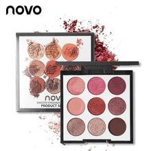 Novo Brand Eye Makeup 9 Color Matte Eyeshadow Palette Set Na