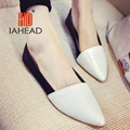 2016 Fashion Women Shoes Flats Casual Comfortable Pointed Toe Rubber Women Flat Shoe Silver/Golden Hot Sale TW-L35