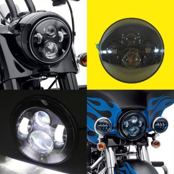7 Round Harley Motor LED Projection Headlight for Harley Davidson Motorcycles Fat Boy FLSTF Lo FLSTFB Touring Trike Softail harley davidson headlight price