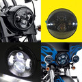 "7"" Round Harley Daymaker LED Projection Headlight for Harley Davidson Motorcycles Fat Boy FLSTF Lo FLSTFB Touring Trike Softail"