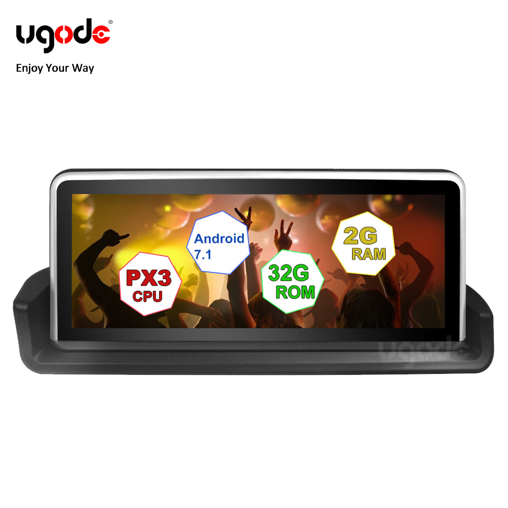 """Ugode Android 7.1 Car GPS Navigation System 10.25"""" IPS Super wide Screen for BMW 3 series E90 E91 E92 E93 enjoy music in car