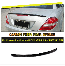 C Class углеродного волокна задний диффузор ограждение выхлопа губ для Mercedes-Benz slk-класс SLK200 SLK300 база КАБРИОЛЕТ 2 двери 2004-2010