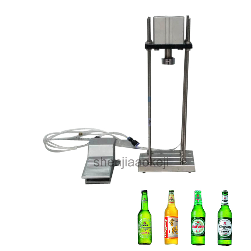 Cap Sealing Machine Semi-automatic Commercial Pneumatic Beer Capping Machine Household Beer Bottle Capper Manual Capping Machine