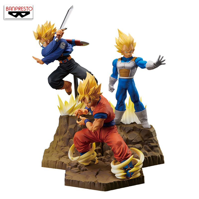 100% Original Banpresto absolue Perfection Figure Collection Figure-Super Saiyan Goku & végéta & troncs de
