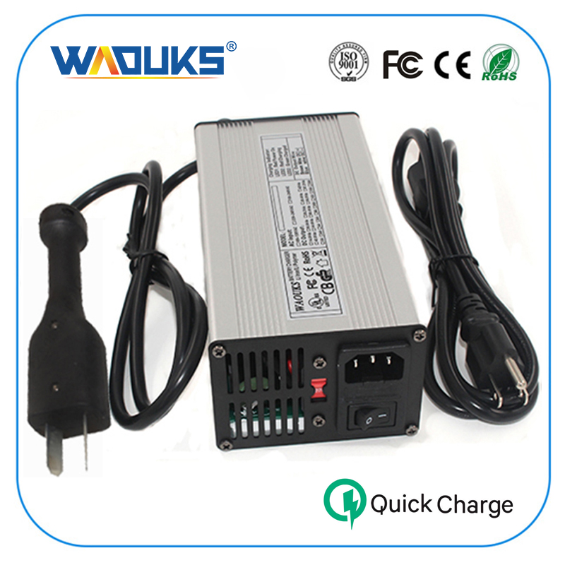 WAOUKS 48V 5A Battery Charger Golf Cart 48V Charger Crowsfoot For Ez Go Club Car DS