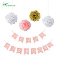 Hot 1set Birthday Party Decorative Set Set Paper Flower Ball Pull Flower Wedding Eventparty Supplies DIY