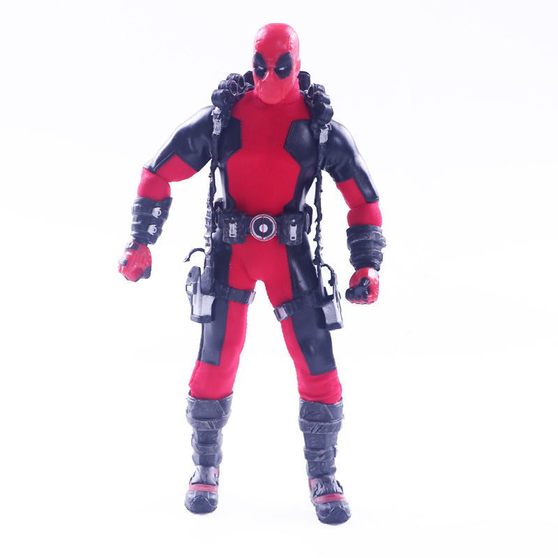 цена на MEZCO Deadpool Superheros Figure Deadpool 1/12 Scale Pre-painted PVC Action Figure Collectible Model Toys Doll 17CM