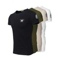 T Shirt Erkekler Sıcak Satış Marka Slim Fit Kısa Kollu T-Shirt Askeri Eğitim Kamp Yürüyüş Spor Taktik ABD DONANMA Tee gömlek