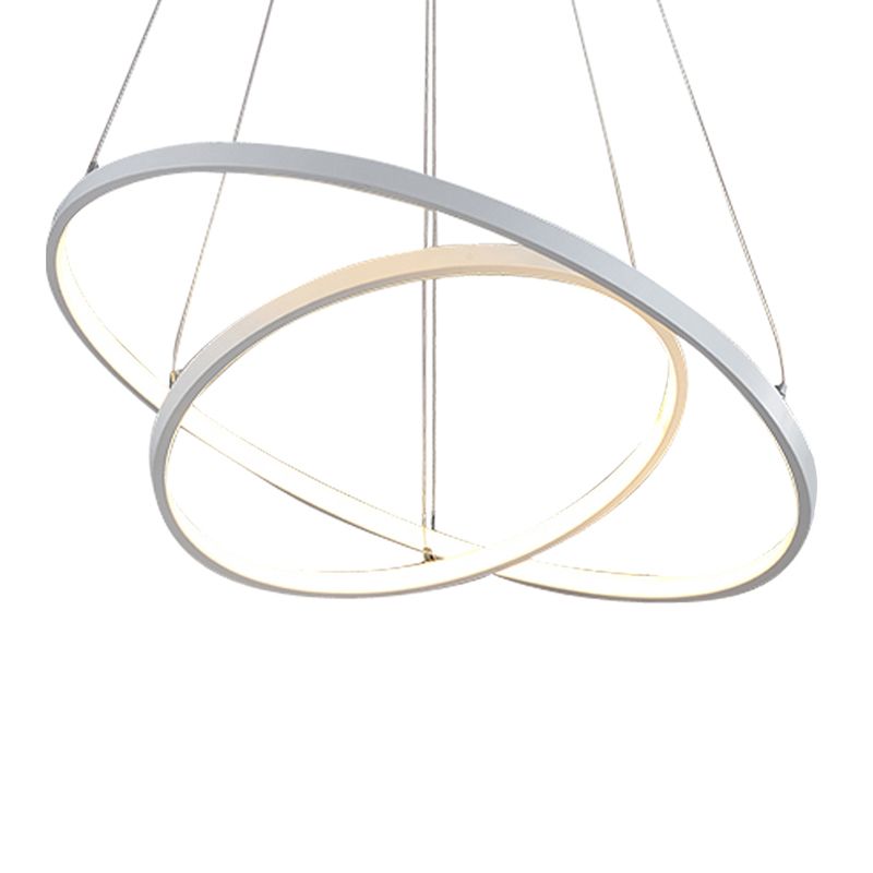 Modern simple LED pendant lights 3 circle rings acrylic aluminum body hanging lamp for home office decoration lighting fixtures horsten modern simple led pendant lamps dining pendant lights aluminum acrylic ring hanging lamp restaurant home lighting 220v