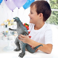 14/35cm Big Standing Action Figure ToyGojirasaurus Dinosaur Model Toys Animals Soft Vinyl Plastic for Kids(Red)